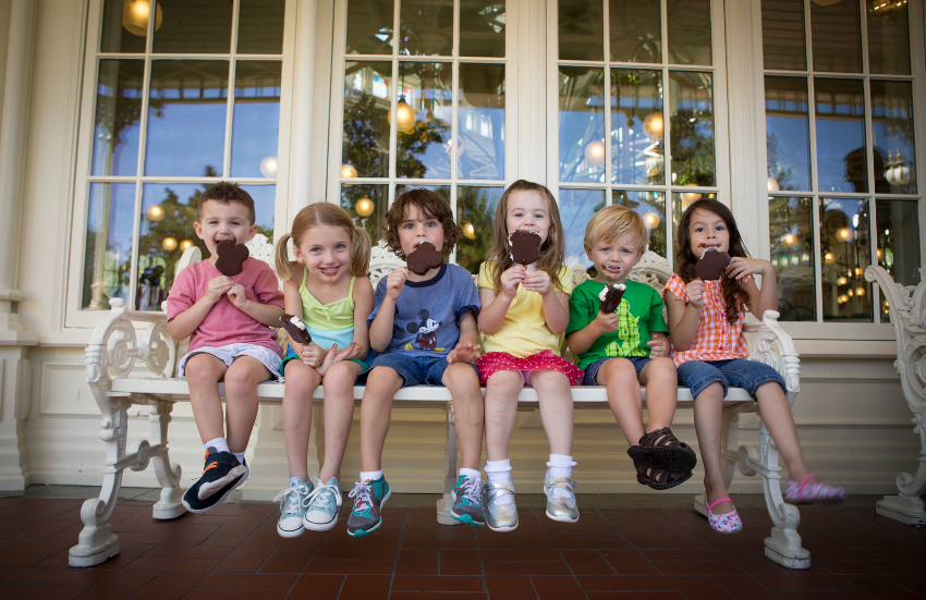 Kids and Mickey Bars