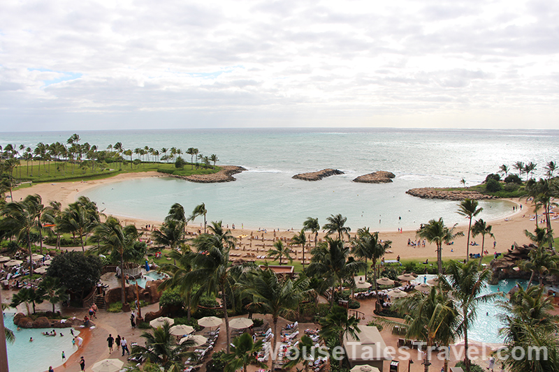 View from an Ocean View Room at Aulani