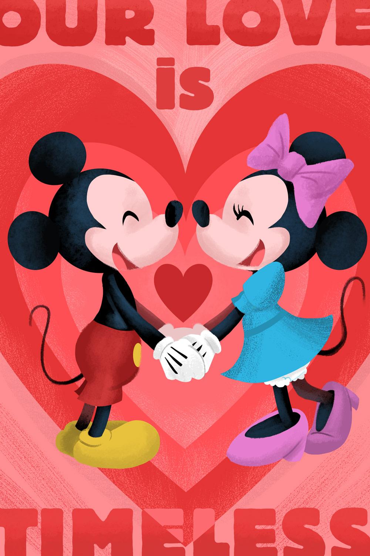 Mickey and Minnie Valentine