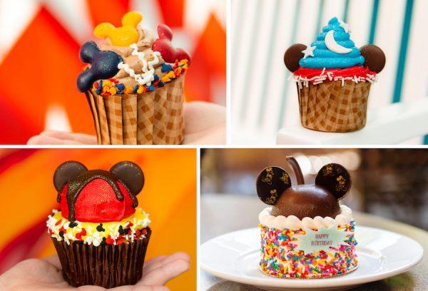 Mickey's birthday cupcakes available at Disney World