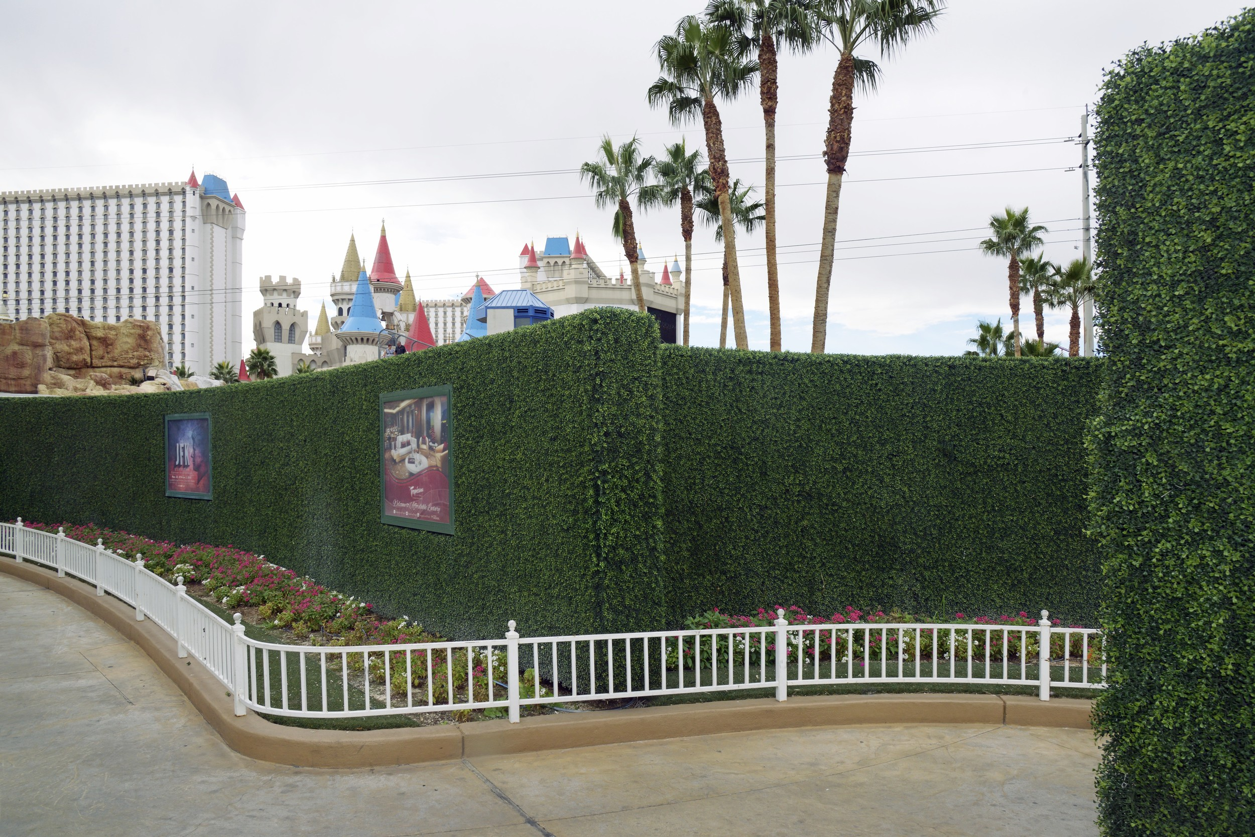 Artificial Hedge and Excalibur Hotel,   2014