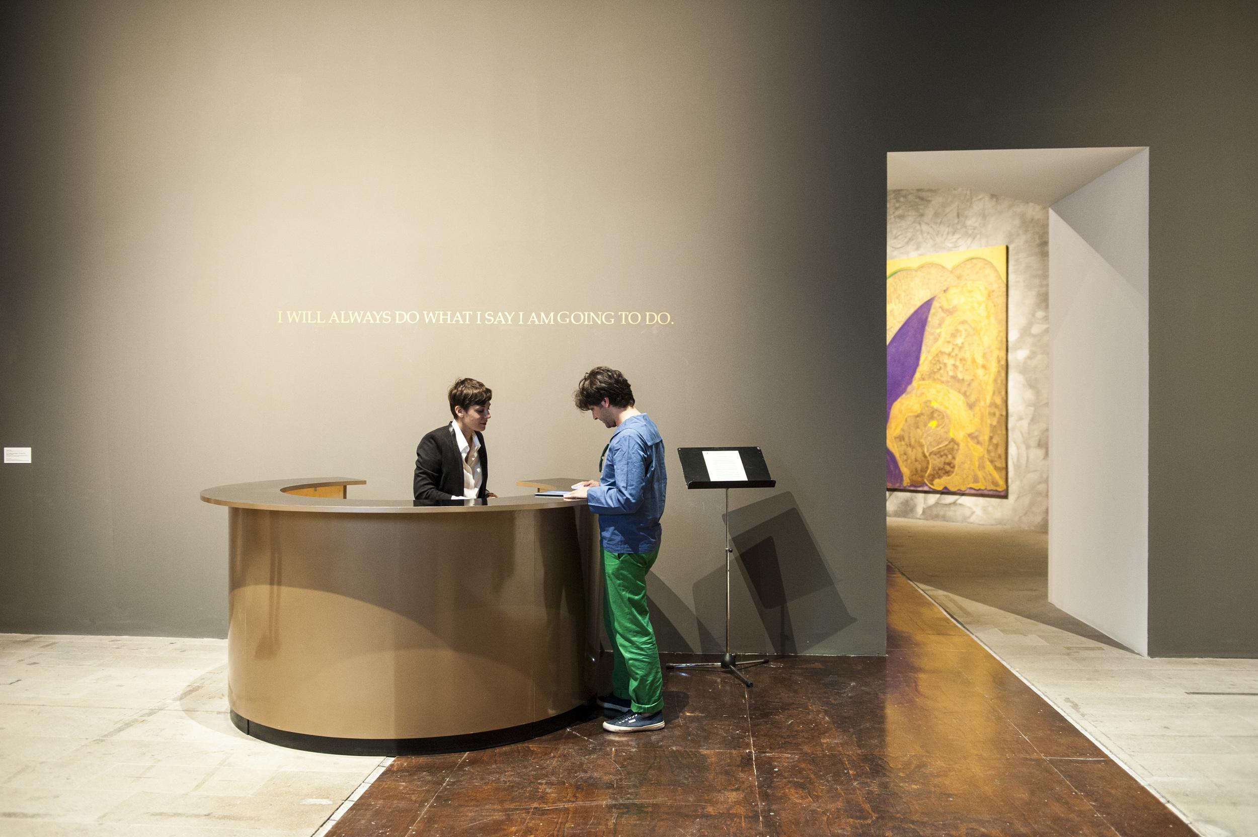 Adrian Piper -The Probable Trust Registry: The Rules of the Game # 1-3, 2013.  Photo by Alessandra Chemollo -Courtesy La Biennale di Venezia