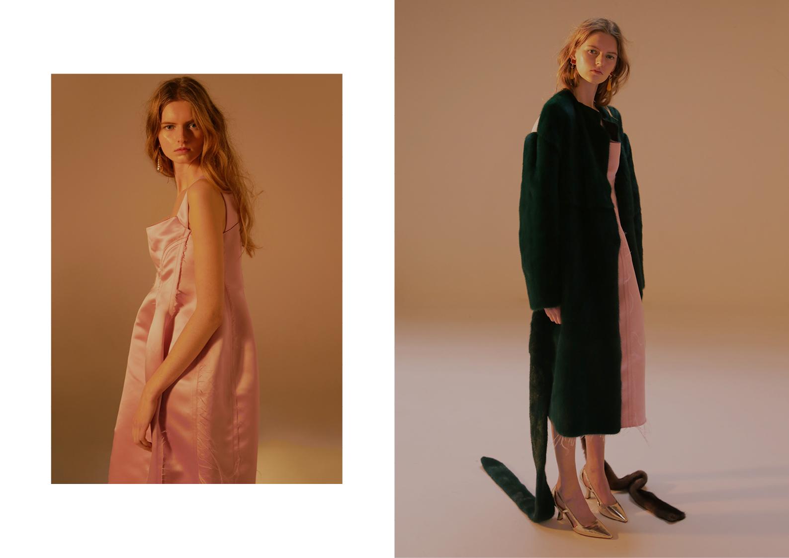 Dress Marni, Fur coat Marni, heels Giovanni Fabiani