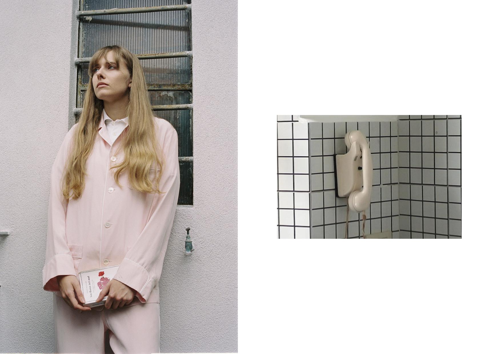 Silk nightwear shirt and trousers OLATZ, cotton polo LEVI'S