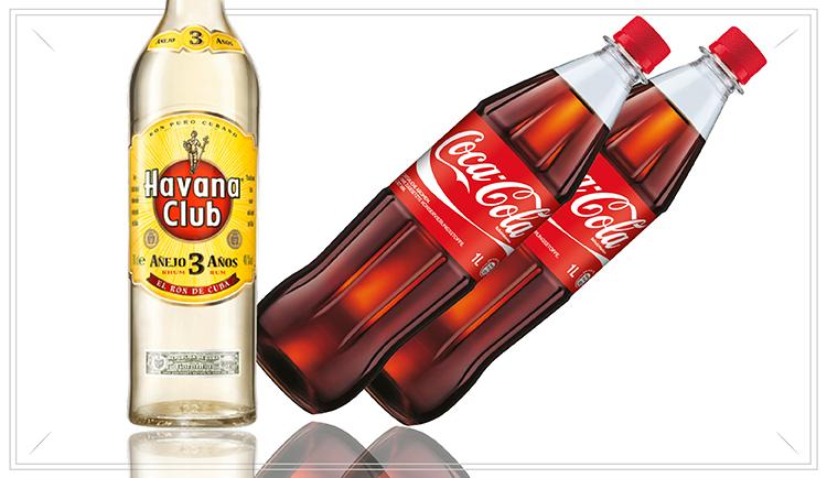NO115 - Cuba Libre Pack - 1 x Havanna Club 3 Anos 0,7l2 x Coca Cola 1,0l Flaschen(2 x inkl. 0,15 Pfand)29,95€