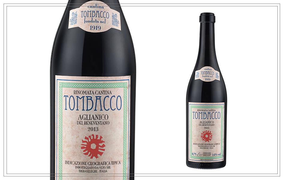 WM121 - Aglianico del Beneventano IGT Tombacco 0,75l - Dieser Wein ist klar und komplex, mit einem angenehmen Hauch von Kirschen und roten Beeren, gefolgt von einer Vanille und würzigen Note. Dunkel, tief rot, mit klaren violetten Tönen. Preis p. Liter 13,20€9,90 €