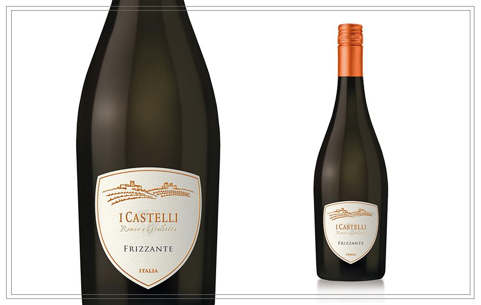 WM123 - Frizzante 'I Castelli Romeo e Guilietta' 0,75l - Dieser Frizzante besitzt eine blasse strohgelbe Farbe. Das Bouquet ist sehr fein und intensiv. Der Geschmack ist sehr elegant mit leichter Perlage.Preis p. Liter 9,20€6,90 €