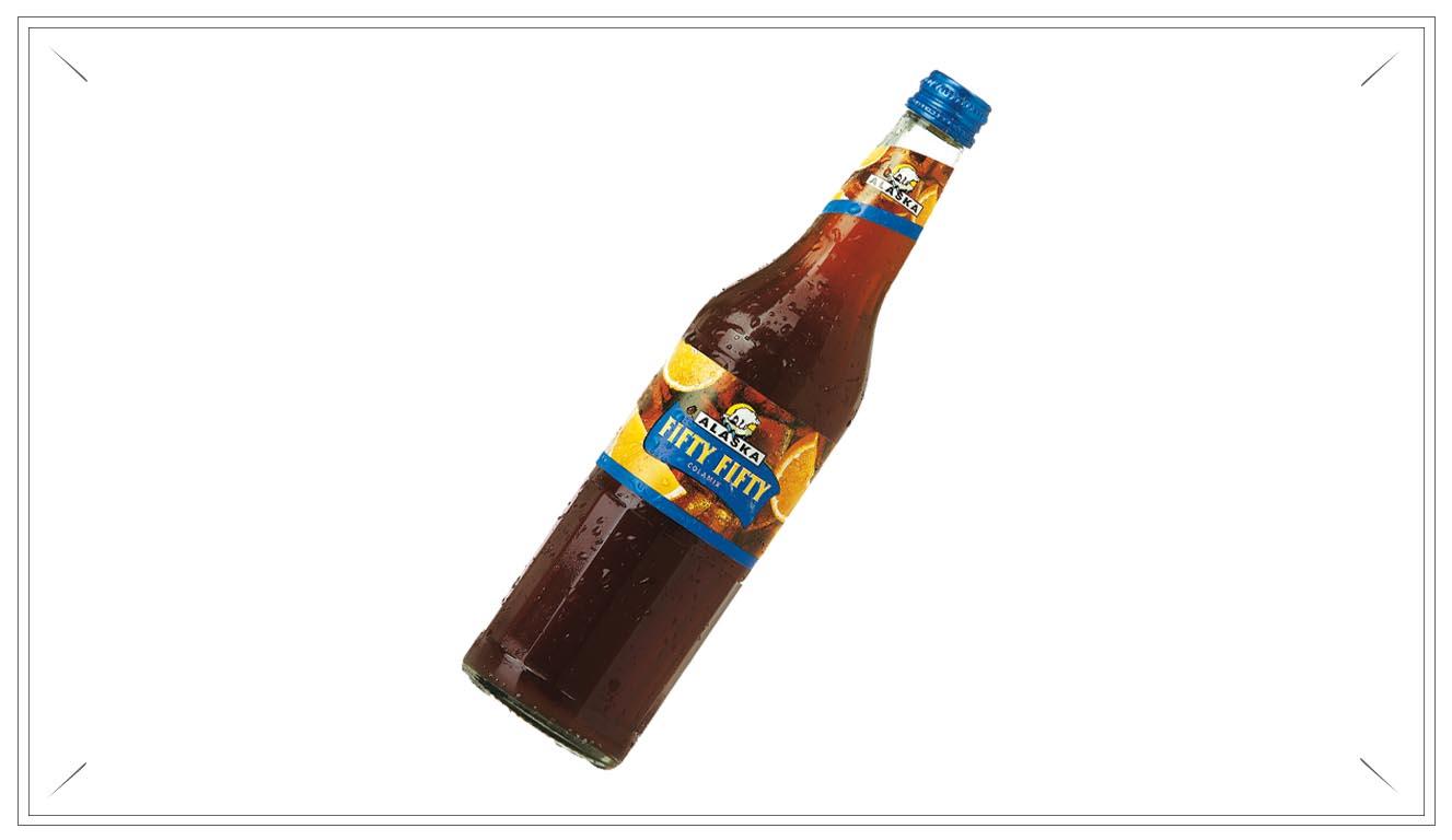 AL101 - Alaska Fifty Fifty Colamix 0,5l - Zutaten: Wasser, Zucker, Kohlensäure, Orangensaftkonzentrat, Farbstoff E150d, Zitronensaftkonzentrat, Säuerungsmittel, Phosphorsäure und Citronensäure, natürliches Aroma, Aroma Koffein, konzentrierter Citrusextrakt.Preis p. Liter 3,00€ inkl. 0,08 PfandPreis pro Flasche 1,50 € (inkl. Pfand 0,08 €)AL101Preis pro Kasten 17,00 (inkl. Pfand 3,10 €)AL101a