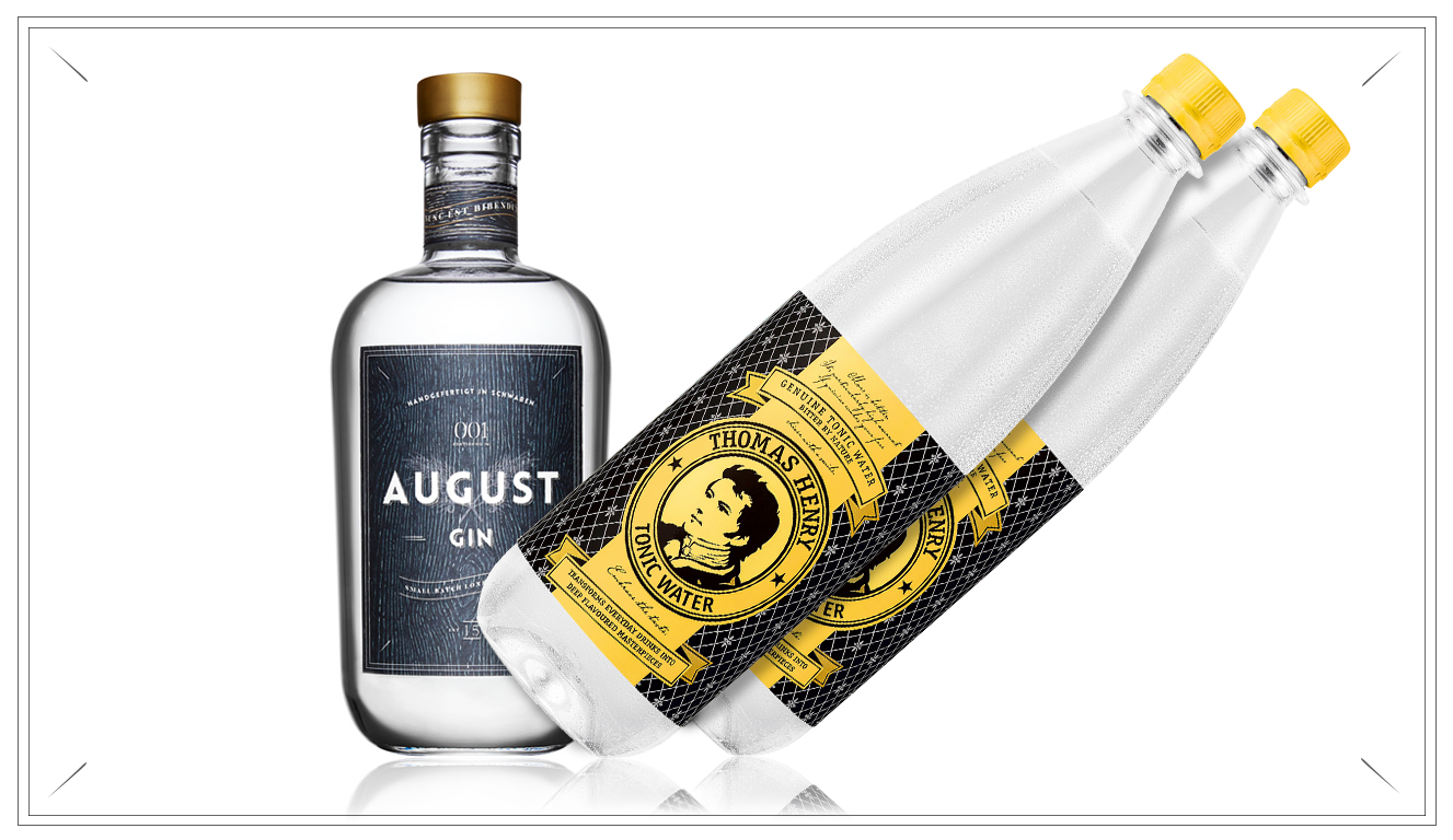 AG106 - PUSSY PACK - 700ml August Gin + 2x 1 Liter Thomas Henry Tonic Water(Preis p. Liter 42,71€ + 3,90€ inkl. Pfand 0,15€)39,90 €