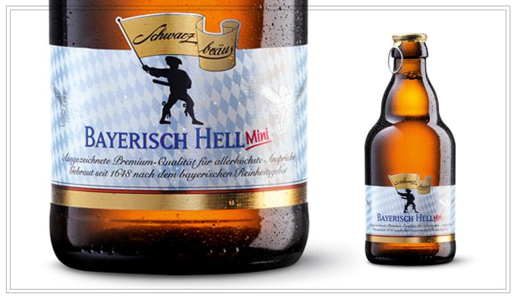 SB102 - BAYERISCH HELL MINI (0,33l) - Klassisch mild und vollmundig süffig: Schwarzbräu Bayerisch Hell verwöhnt mit angenehm frischem und ausgereiftem Geschmack. Typisch bayrisch. Typisch hell. Typisch Schwarzbräu.Ein Bier für erfrischend helle Momente.Alkohol: 4,8% | Stammwürze: 11,4 °PlatoPreis p. Liter 5,76 € (inkl. Pfand 0,08 €)Preis pro Flasche 1,90 € (inkl. Pfand 0,08 €) - SB102Preis pro Kasten 14,90 (zzgl. Pfand 3,10 €) - SB102a
