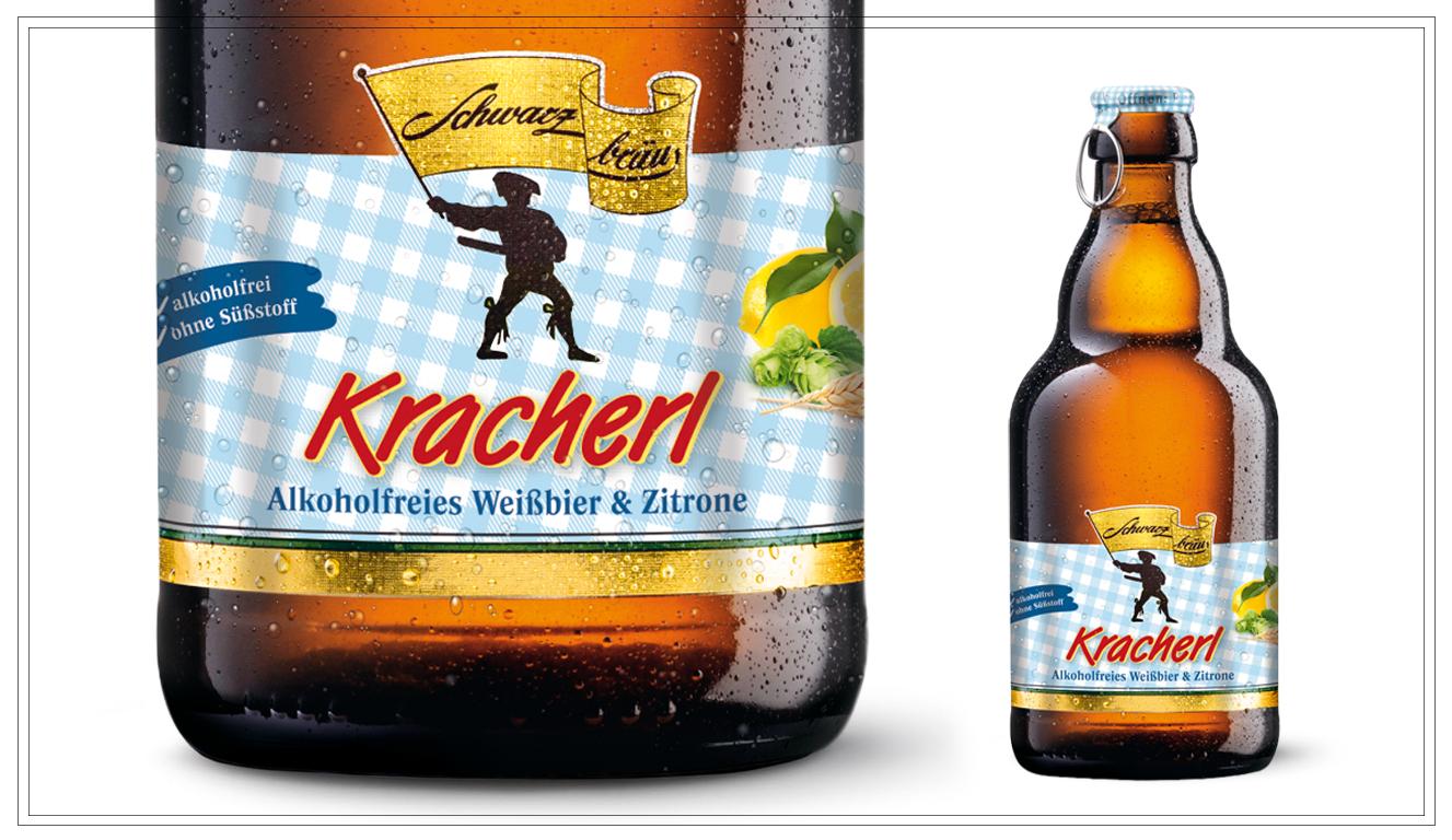 SB105 - KRACHERL(0,33l) - Der altbayerische Ursprung einer fruchtigen Limonade von Schwarzbräu modern umgesetzt: Die eine Hälfte alkoholfreies Nullinger, die andere Hälfte spritzige Limonade mit