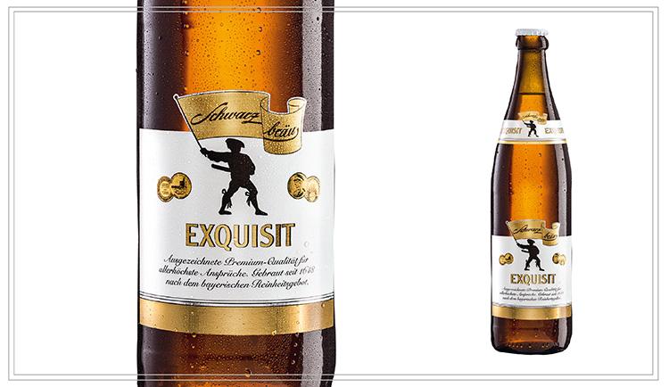 SB104 - EXQUISIT (0,5l) - Feines helles Malz aus zweizeiliger bayerischer Sommergerste sowie die kalte, lange Lagerung verleihen dem Exquisit seine feine Würze - die süffige Note betont der Hallertauer Hopfen.Alkohol: 5,4% | Stammwürze: 12,5 °PlatoPreis p. Liter 4,80 € (inkl. Pfand 0,08 €)Preis p. Flasche 2,40 € (inkl. Pfand 0,08 €) - SB104Preis p. Kasten 18,90 € (zzgl. Pfand 3,10 €) - SB104a