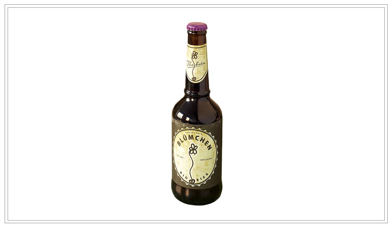 TB101 - Blümchen Bio Bier 0,33l - Preis p. Liter 9,00€ + inkl. 0,08€ PfandPreis p. Flasche 3,00€ (inkl. Pfand 0,08 €) - TB101Preis p. Kasten 21,90 € (zzgl. Pfand 3,10 €) - TB103