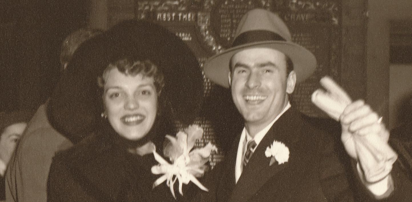 Barbara and husband Lloyd Stamy (1949).
