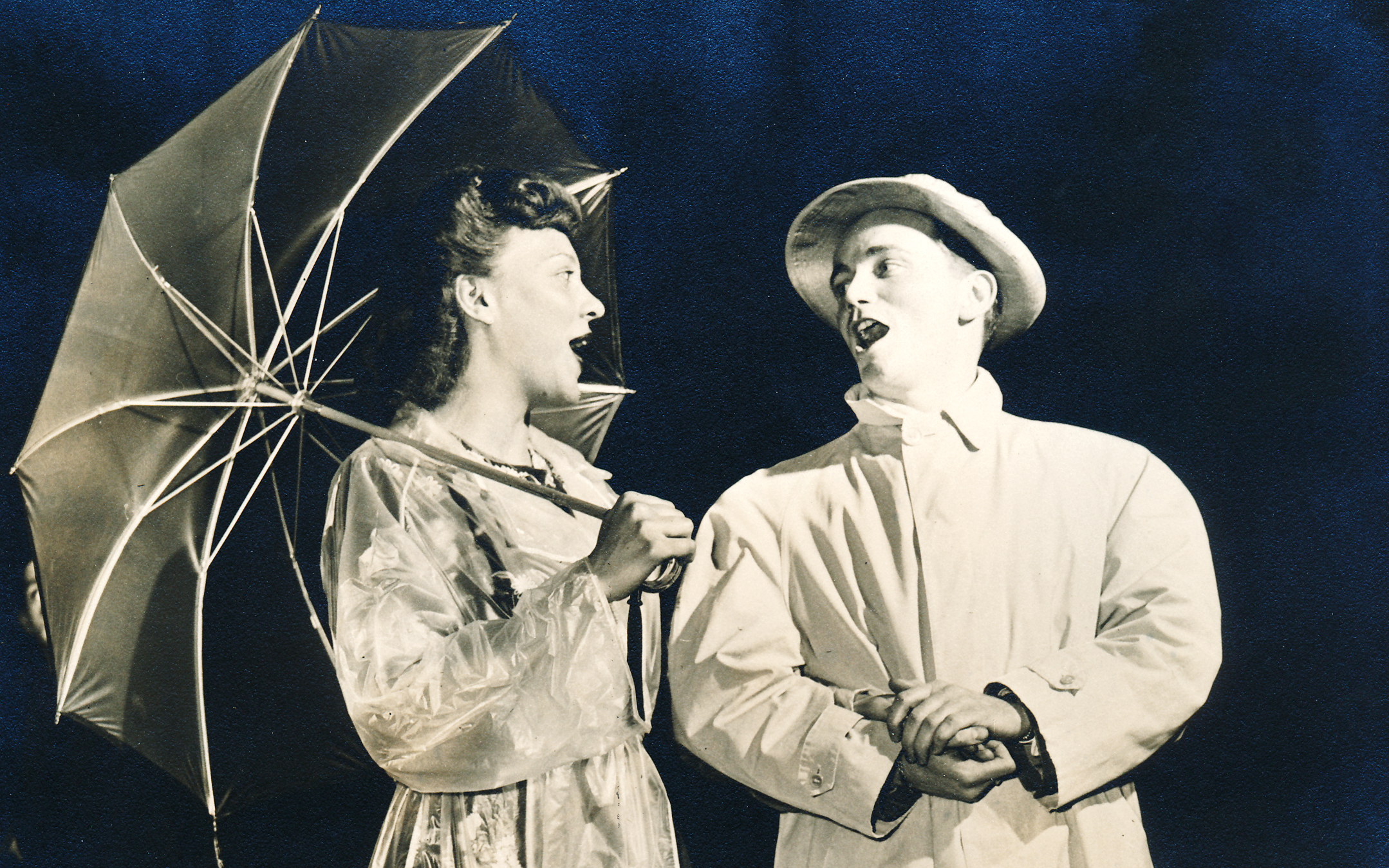 Barbara and Johnny Kirby in  After Hours  at The Pittsburgh Playhouse (1946).