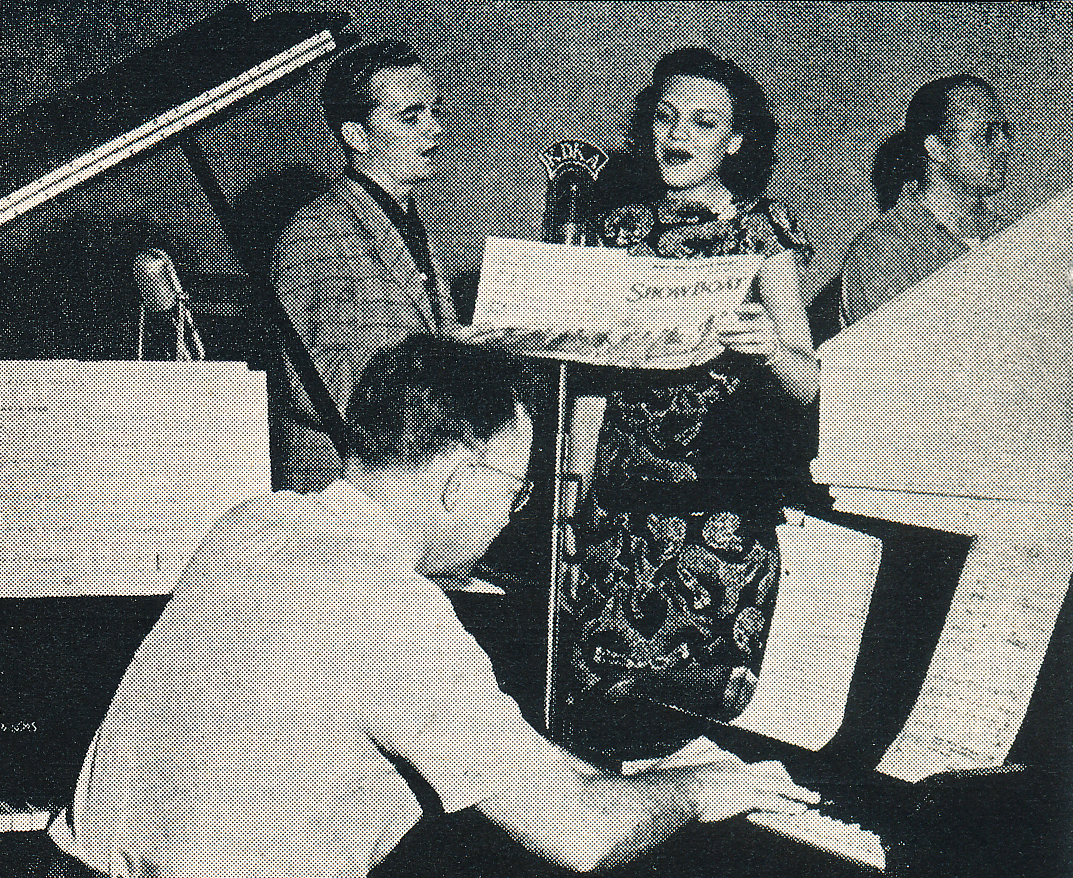 Live broadcast of  Songs You Love to Hear  from KDKA Radio Studio A (1948).