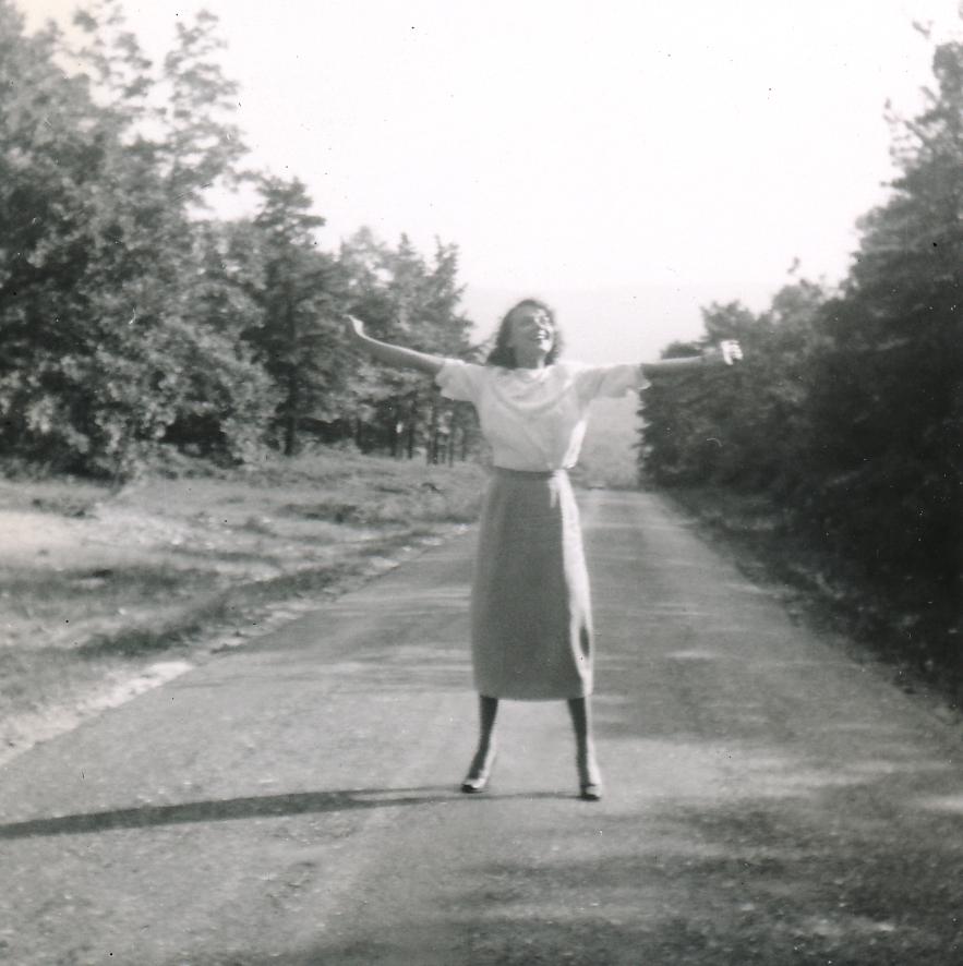 Barbara enjoys the sheer joy of singing.