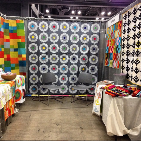 My booth at QuiltCon this past February
