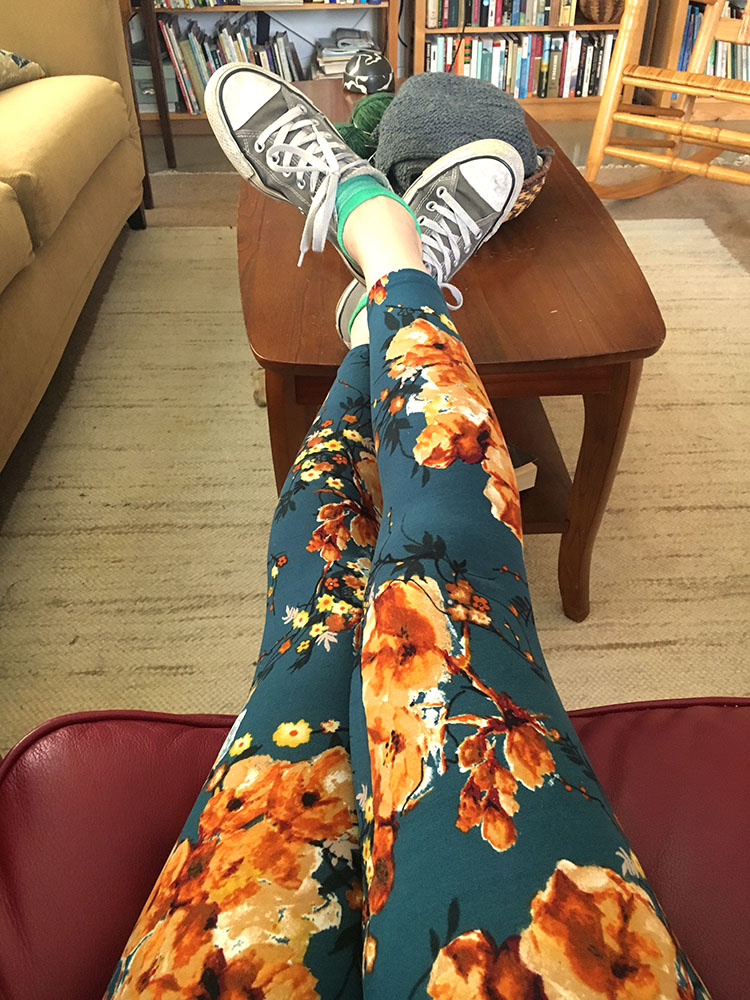 To celebrate Day 12 I made these leggings to wear to class. The pattern is  The Shelly Leggings  from Seamwork Magazine.
