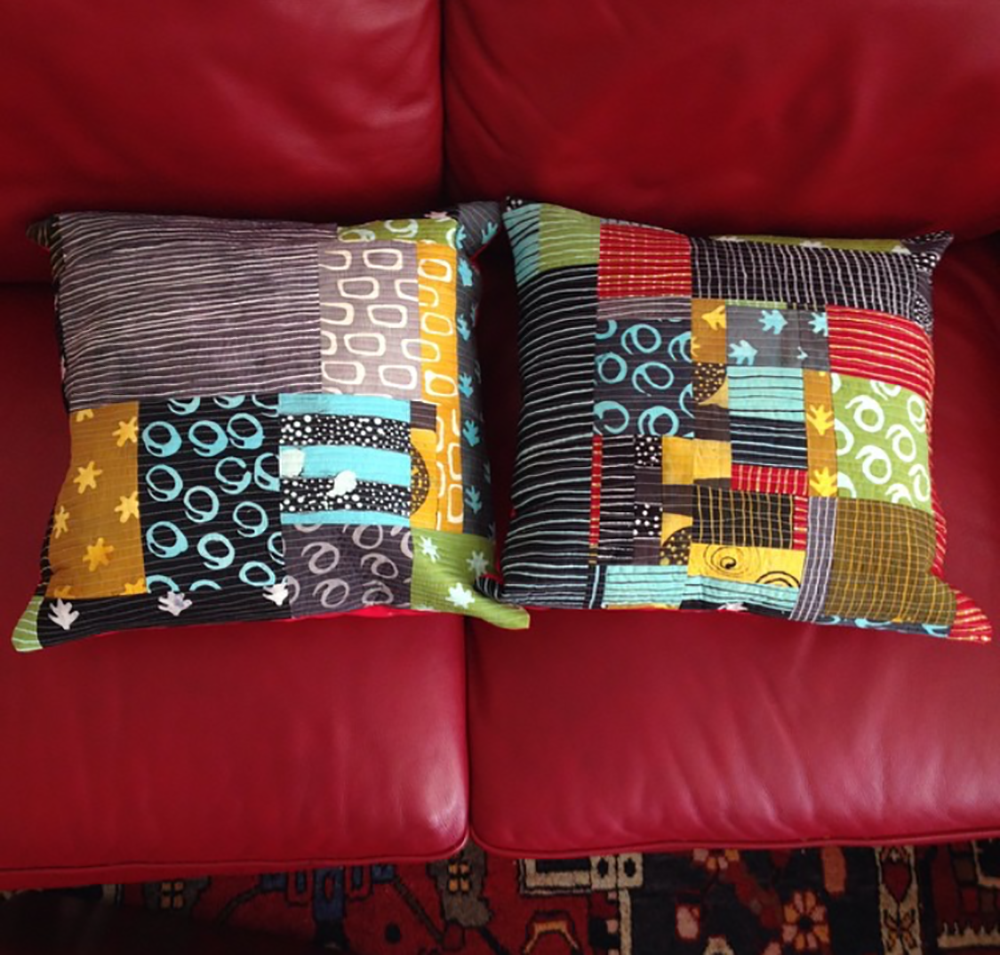 Ikon scrap pillows from 2015.