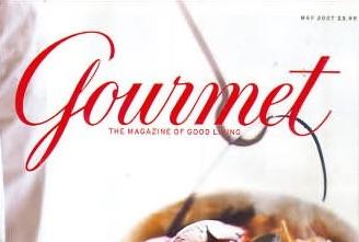 gourmet magazine may 2007