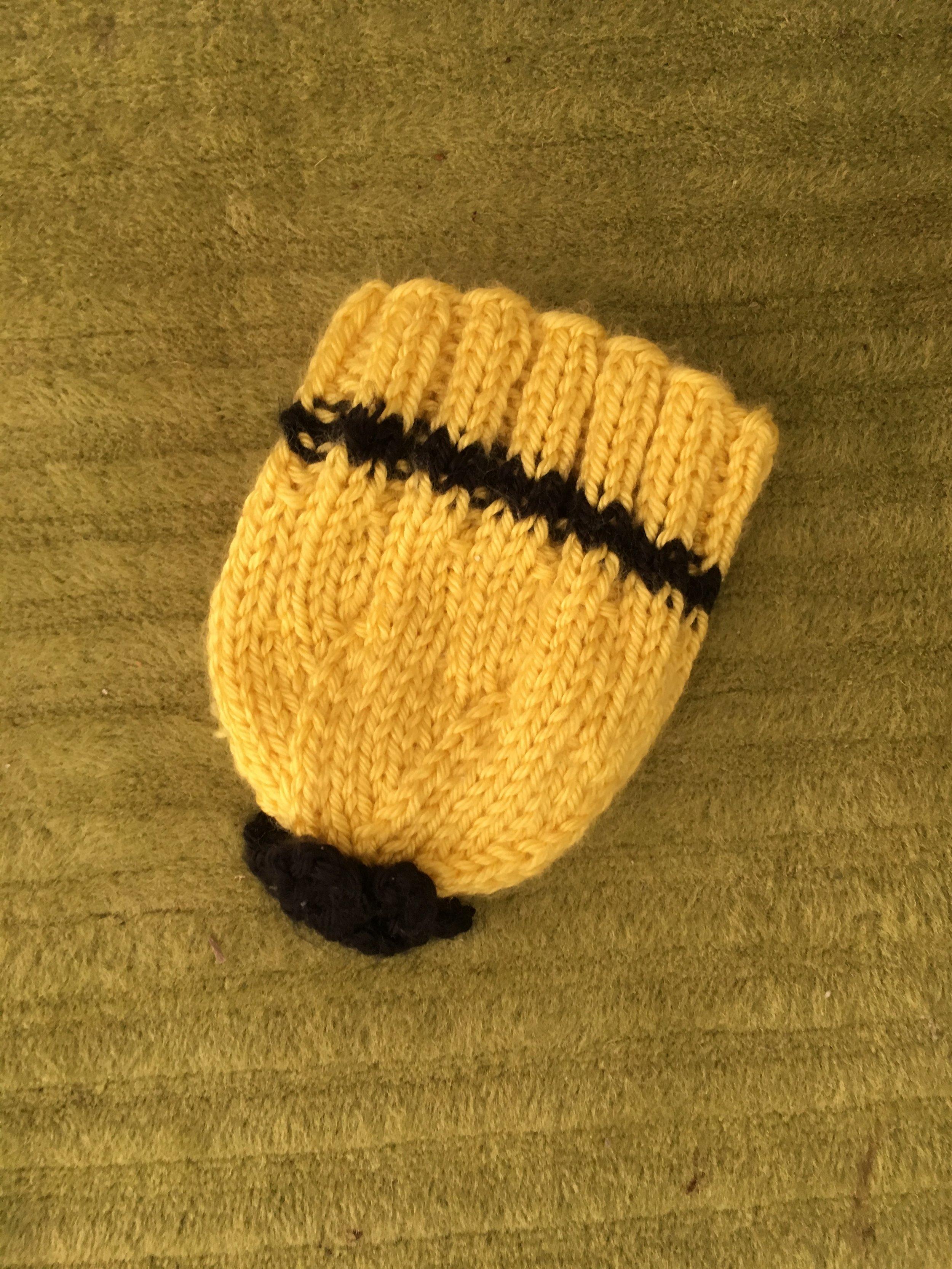 Black and yellow newborn cap $5