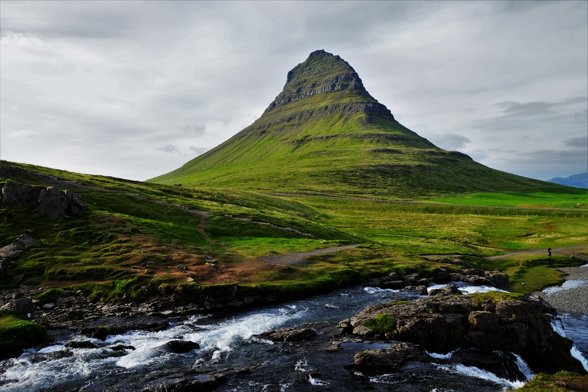 Kirkjufell Mountain, Grundarfjordu: (http://www.west.is/en/west/place/kirkjufell-mountain)