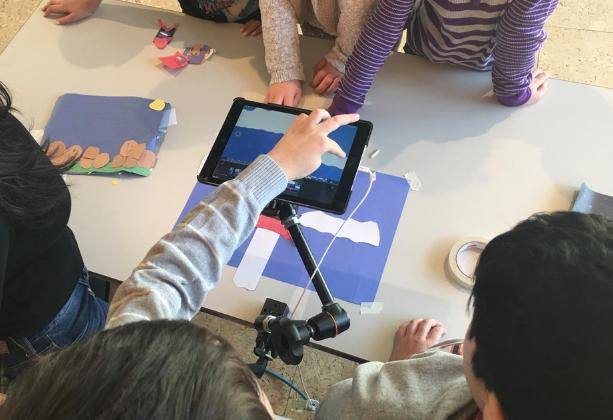 Kids around iPad