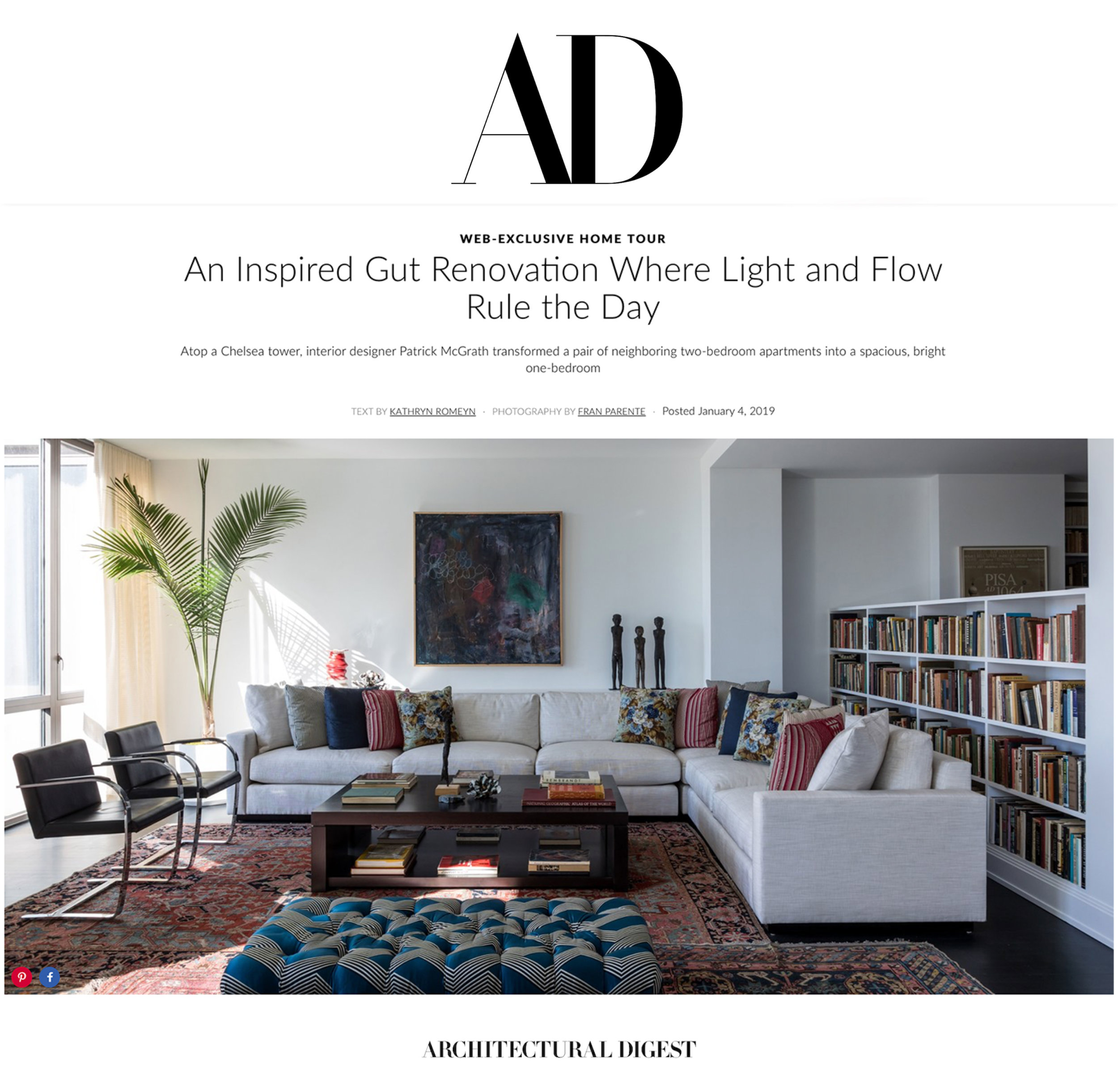 ARCHITECTURAL DIGEST, JANUARY 2019