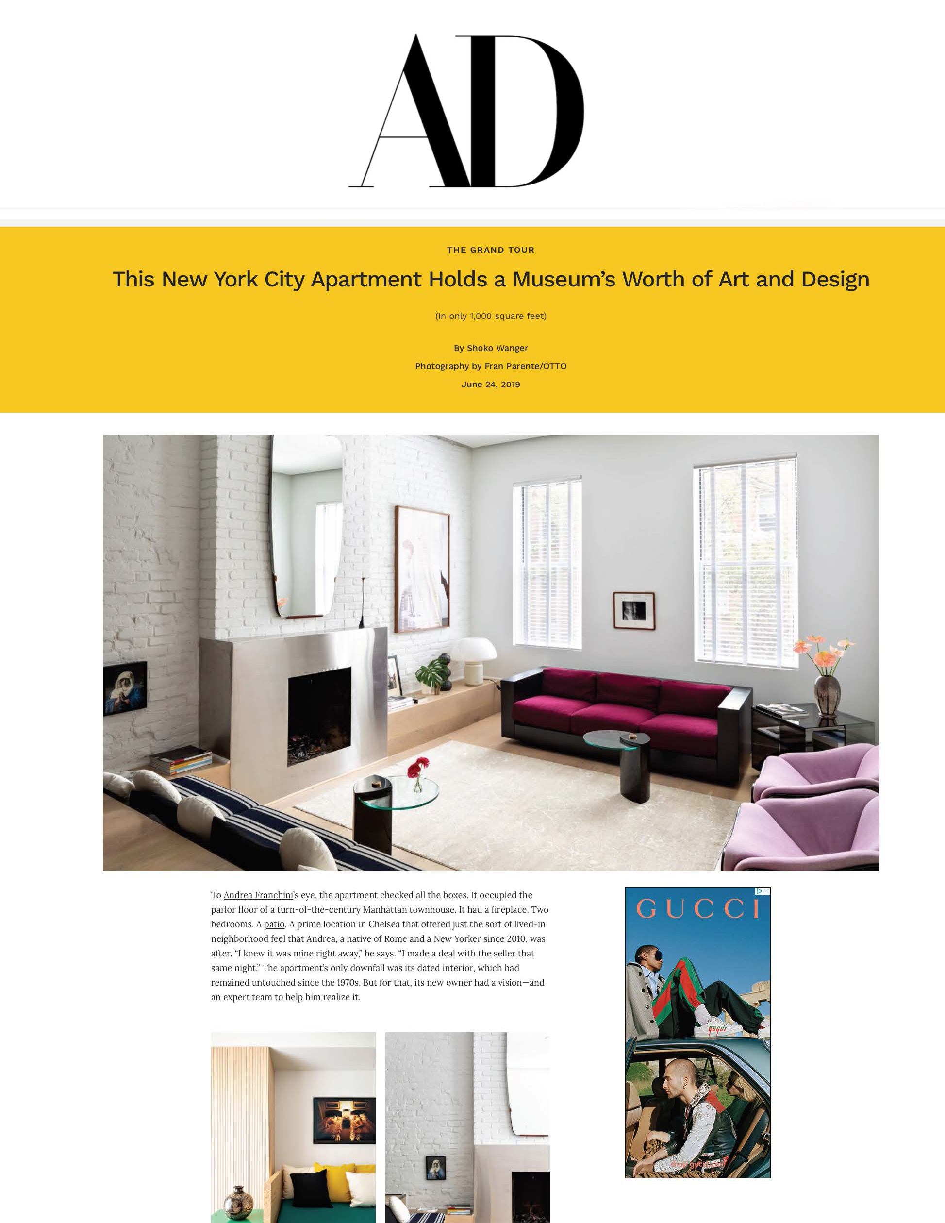 ARCHITECTURAL DIGEST, JUNE 2019
