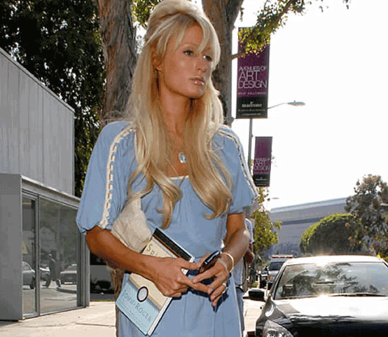 Paris Hilton leaving the Bodhi Tree May 23rd, 2007