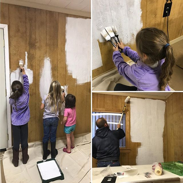 Saturday morning makeover of the former tac room in our horse barn. Stay tuned for the final transformation of the soon to be Marmilu Farms retail store! #keepitlocal #shoplocal #makingmeatgreatagain #marmilufarms #familyworkday