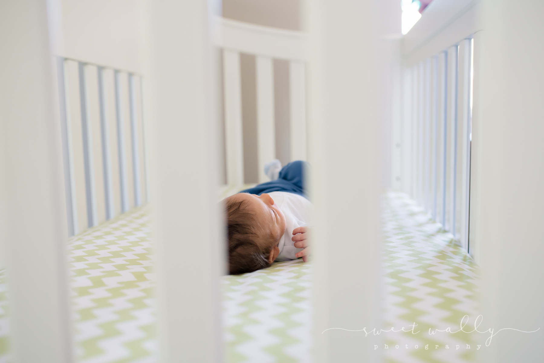 One day he'll outgrow this crib... | Lifestyle Newborn Session | Sweet Wally Photography in Nashville, TN