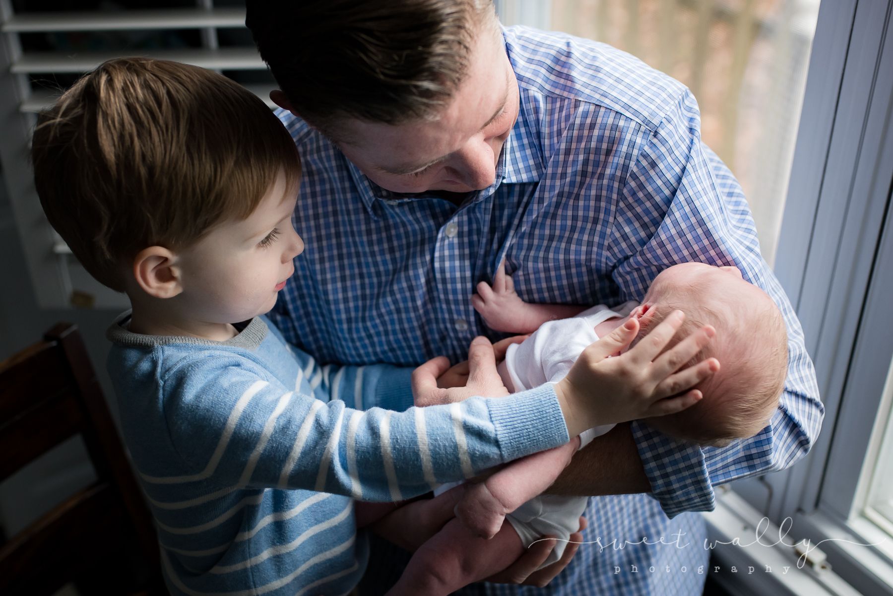 The boys | Newborn session in the home by Sweet Wally Photography | Nashville Newborn Photographer