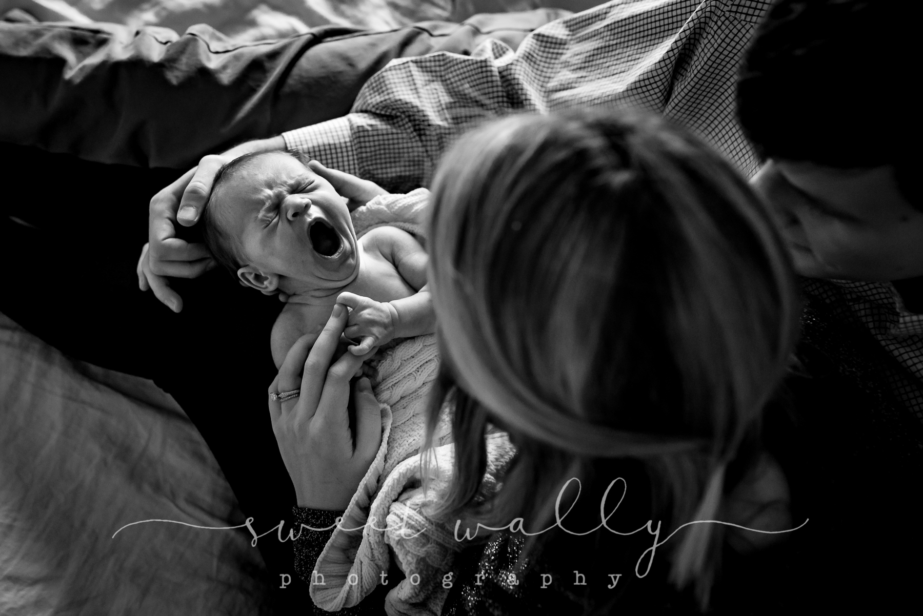 Is there anything sweeter than a newborn yawn? | Lifestyle Newborn Photography by Sweet Wally Photography | Nashville, TN