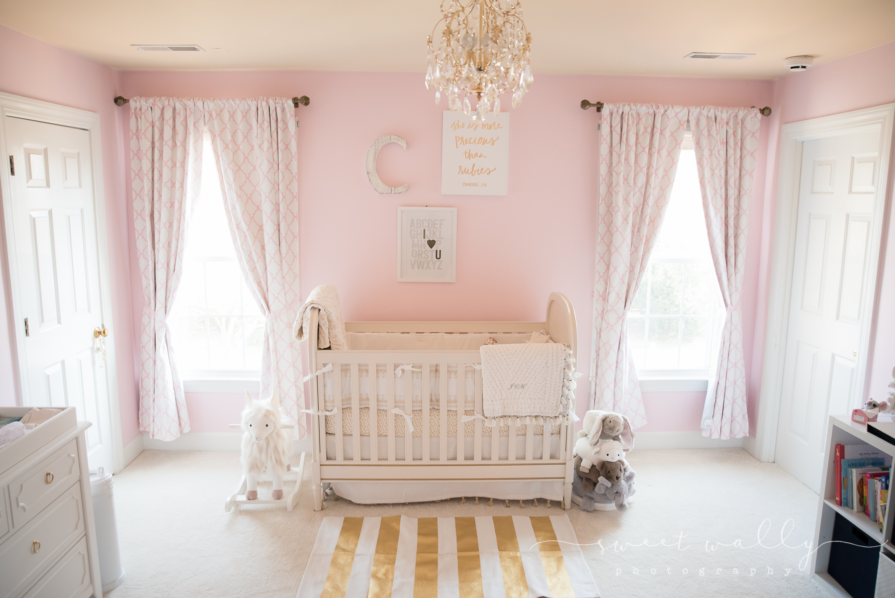 Holy gorgeous nursery! | Lifestyle newborn photography by Sweet Wally Photography in Nashville, TN