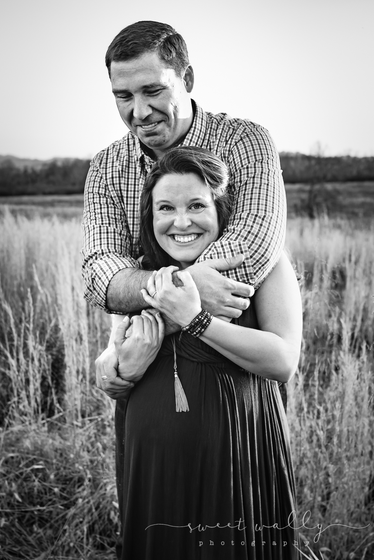 Sweet smiles from some parents-to-be | Nashville Maternity Photographer | Sweet Wally Photography