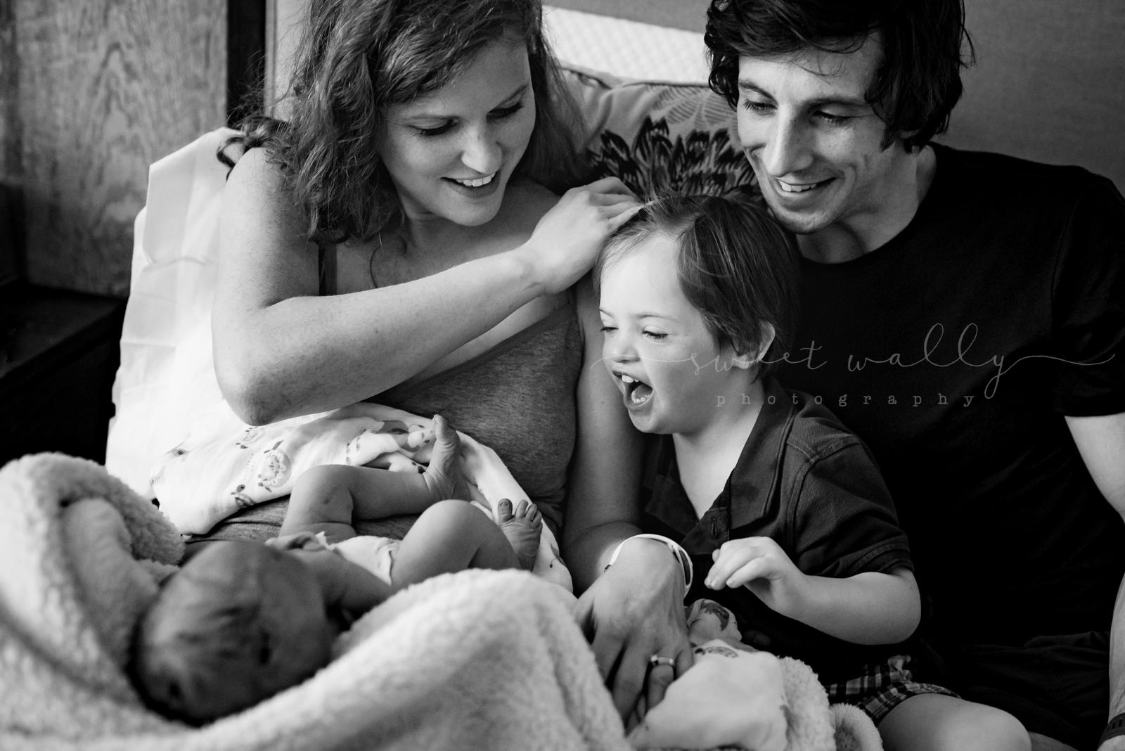 Pure big brother joy | Fresh 48 Newborn Session by Sweet Wally Photography | Nashville, TN
