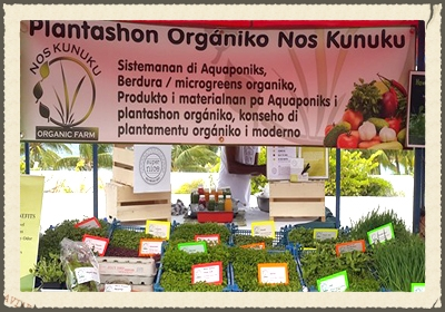 NOS KUNUKU  at Ronde Klip designs living environments that have the diversity , stability and resilience of natural ecosystems. The result:  products with high nutritional value, rich in nutrients. Nos Kunuku delivers pre-packaged micro greens to local supermarkets.   https://www.facebook.com/nos.kunuku/?fref=ts