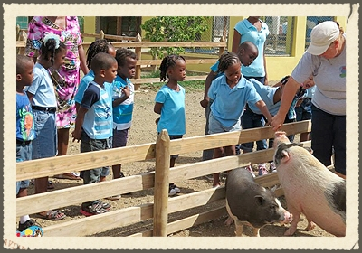 ITSY BITSY  the main goal of Itsy Bitsy is to offer the people of Curacao, especially young children a unique opportunity to come in con...tact with farm animals by allowing them to feed, touch, smell and appreciate these animals. In doing so we hope to help cultivate love for these animals and stimulate respect, responsibility and awareness for (domestic) animals in general.   https://www.facebook.com/ItsyBitsyCuracao/info/?tab=page_info