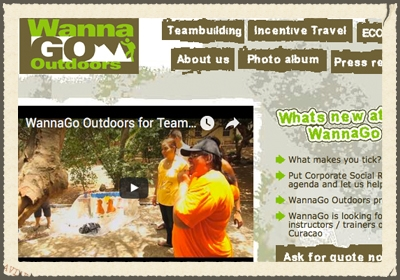 WANNAGO OUTDOORS  With WannaGo Outdoors, launched in 2008, we organize Teambuiling, Eco and Outdoor events and we organize incentravel programs.  We can help you improve the performance of your team.  We can challenge your group in many ways, not only during physical assignments but also mentally.   www.wannago-outdoors.com
