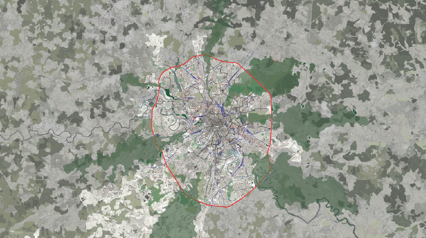 Moscow and the Oblast - Overall MKAD Plan