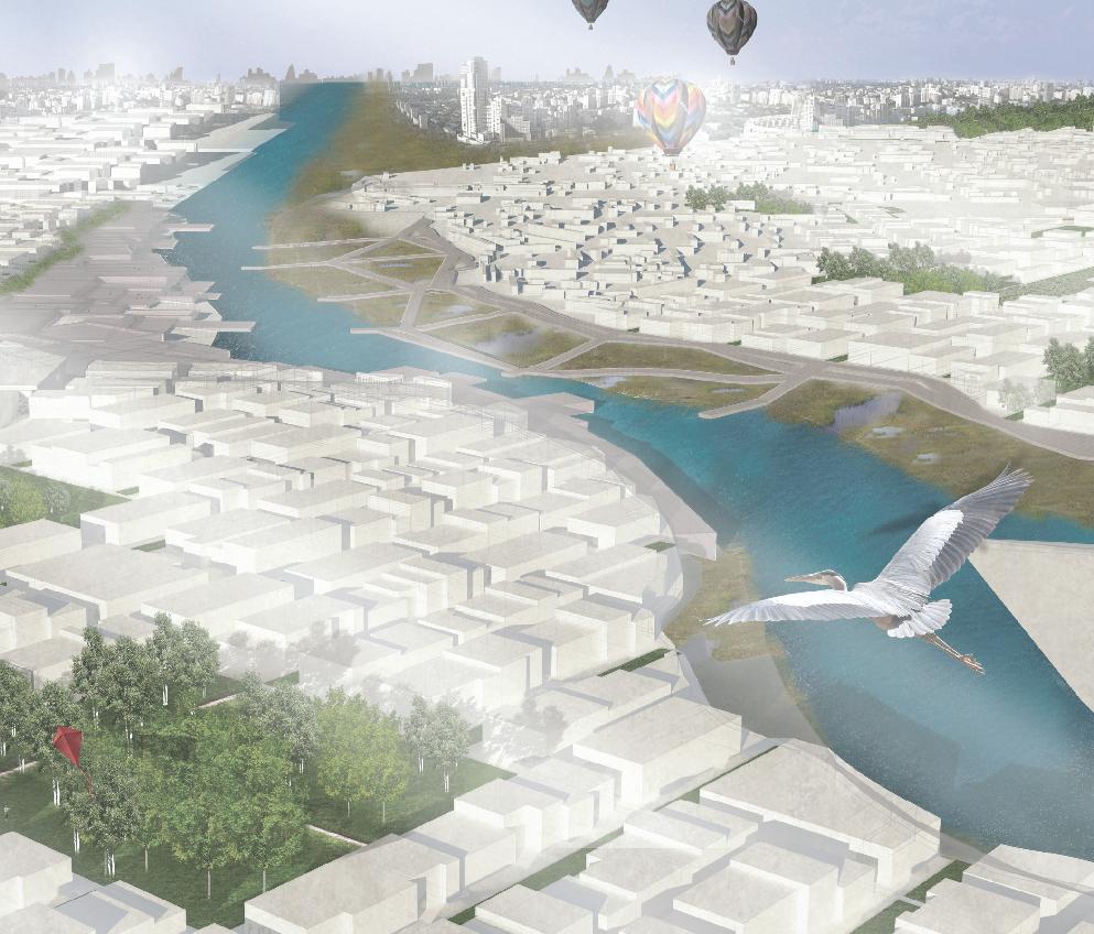 Aerial Perspective - Intensified urban density
