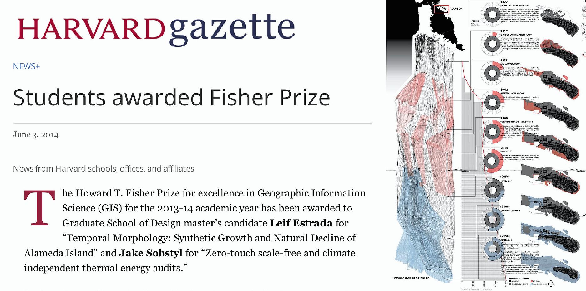 Students Awarded Fisher Prize (Harvard Gazette)