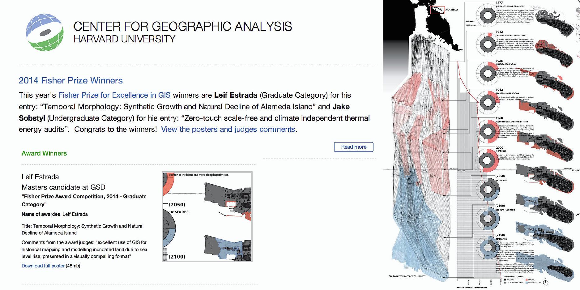 Howard T Fisher Prize Award for Geographic Information Science at Harvard University (Harvard CGA)
