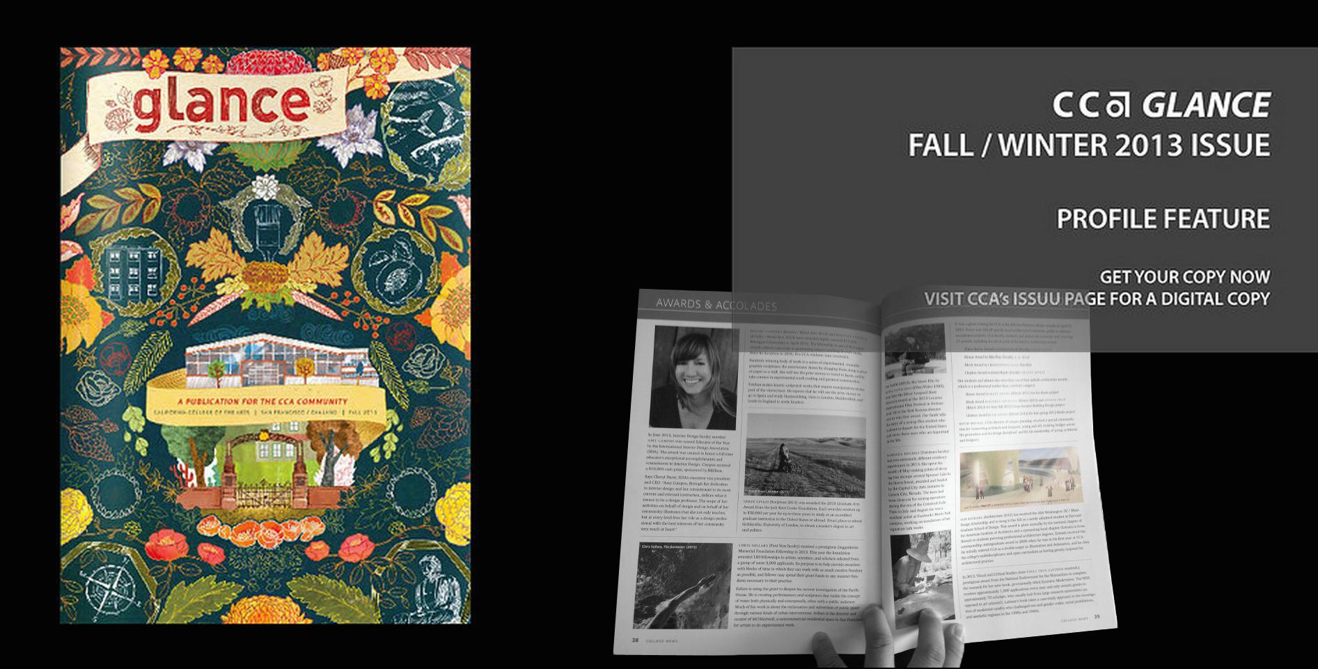 CCA Glance Magazine Fall 2013 (California College of the Arts)