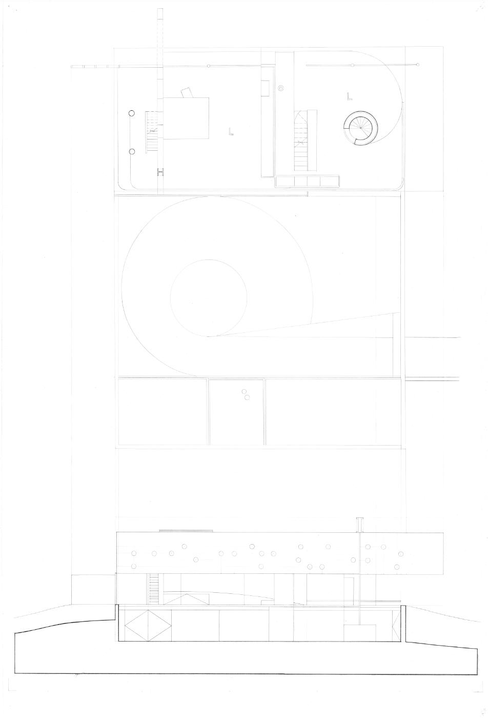 Second Floor Plan; Longitudinal Section