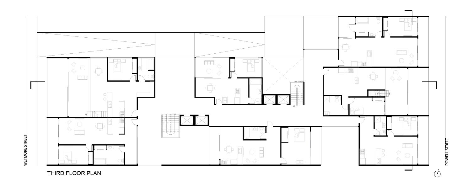 Typical Plan:  Third  Floor Plan