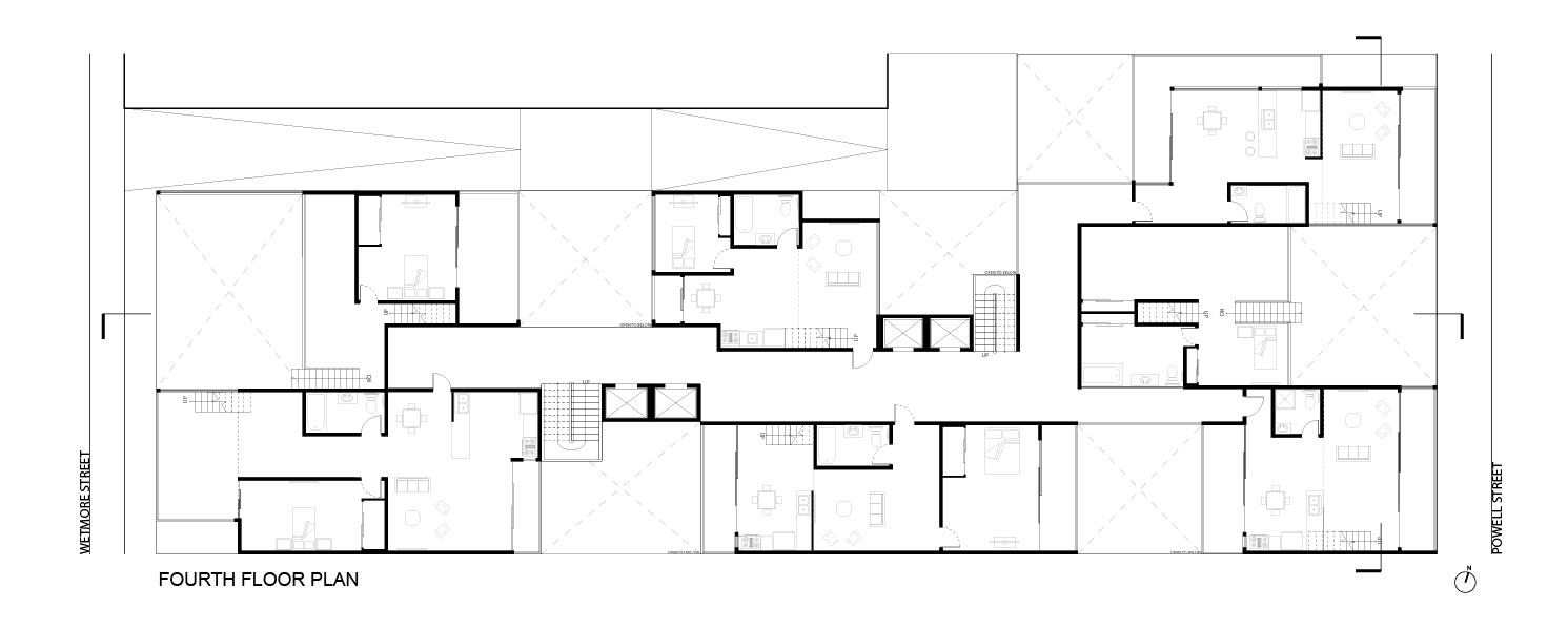 Typical Plan:  Fourth Floor Plan