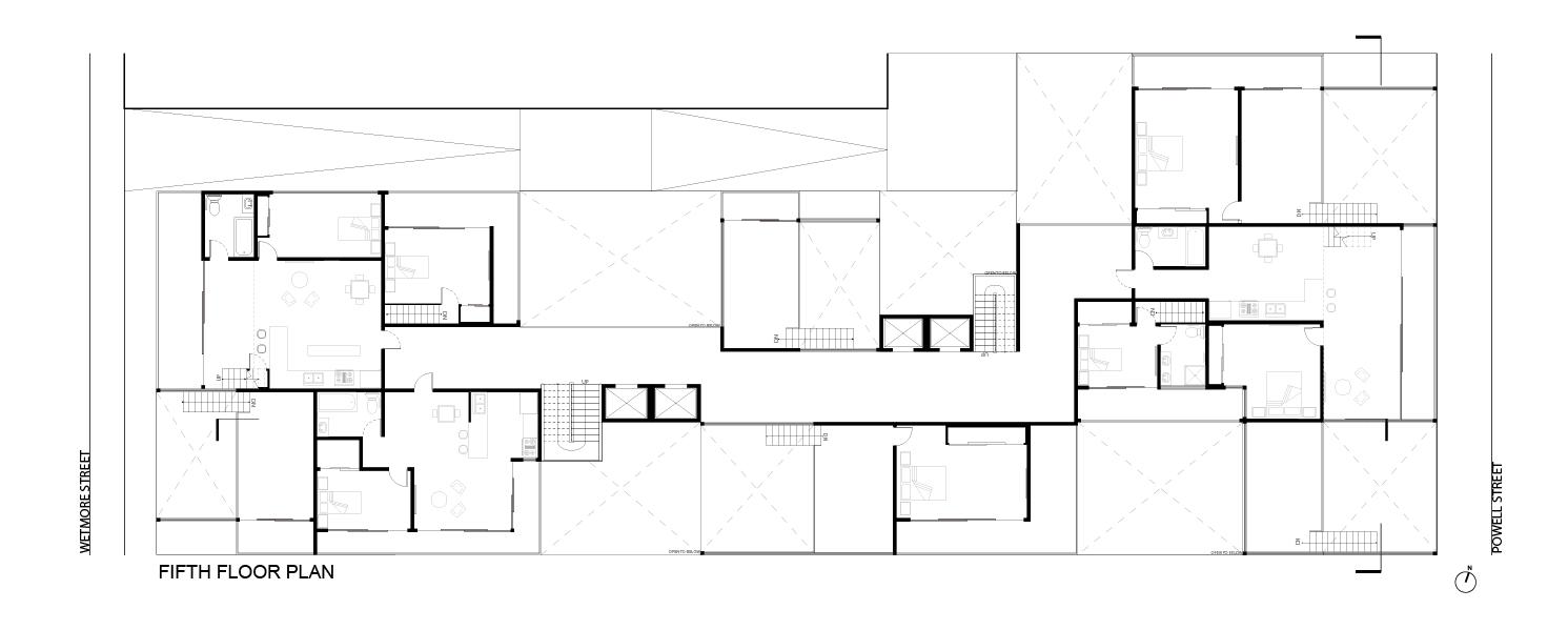 Typical Plan:  Fifth Floor Plan
